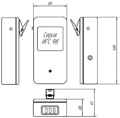 габаритные размеры газосигнализатора Бином-2В